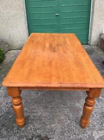 6ft SOLID WOOD FARMHOUSE DINING TABLE