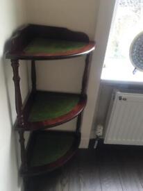 vintage wooden corner unit