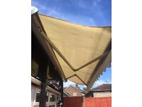 70% Off - £299 - 4m x 3m Full Cassette Electric Garden Patio Awning Sun Canopy Shade Retractable