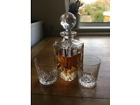 Edinburgh Crystal Decanter & Glasses with Crystal Fruit Bowl