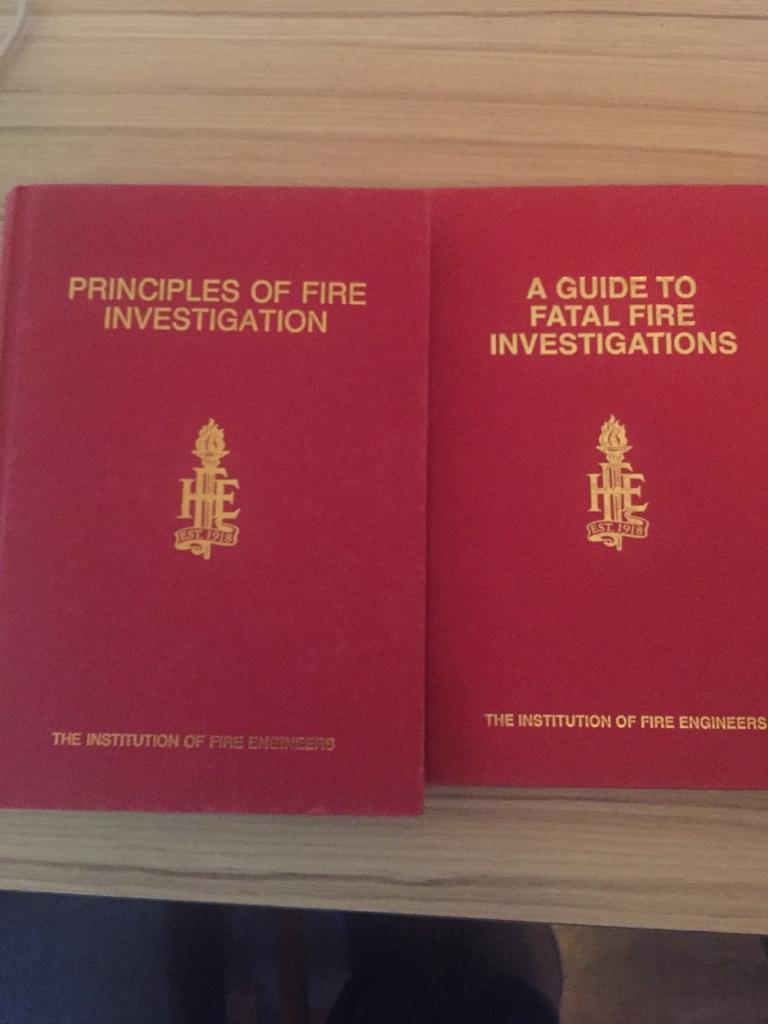 Fire investigation books