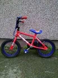 Spiderman bike 14 inch