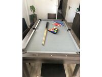 Pureline 6ft Dining Table with Table Tennis + Pool