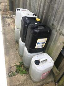 Joblot huge liquid containers