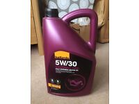 Halfords 5W/30 Vauxhall Opel Fully Synthetic Motor Oil: Never Opened