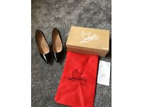 Louboutin 'Style' Black Patent size 5 heels shoes