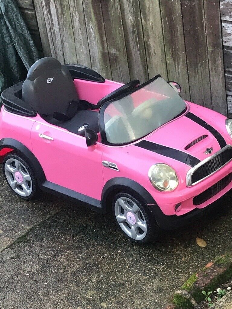 Working pink electric Mini Cooper toy car   in Walton on Thames, Surrey   Gumtree