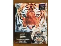 BRAND NEW ANIMAL WILD COLLECTION - PHOTOGRAPHIC ANIMAL KING SIZE DUVET SET - TIGER