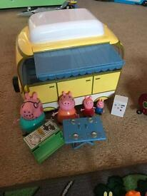 Peppa pig camper van & accessories