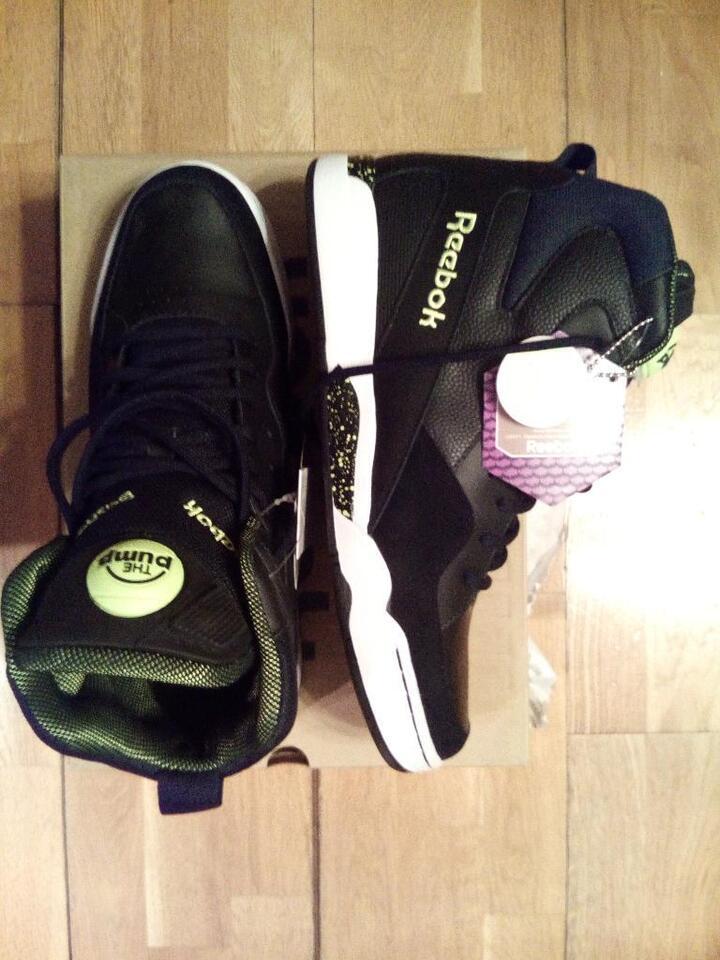Reebok Pump Skyjam Herren Sneaker Schwarz M46202 NEU 45,5 US 11,5