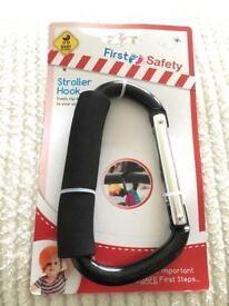 First safety deluxe stroller hook black BRAND NEW