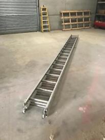 19 rung triple extending ladder