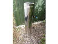 For sale. 1 meter Dinak twin wall flue.