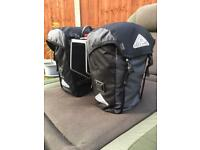Altura panniers with rear rack for bike packing / Touring