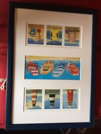 Lovely beach hut print - great for a boys room or any nautical theme