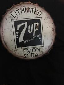 7UP METAL SIGN