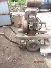 Petter A1 diesel engine used as pump