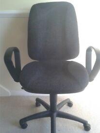 Office Swivel Chair - Charcoal Grey & Black
