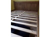 Two double bed frame with fitted mattress for sale