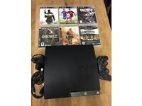 Playstation 3 Slimline 160gb Bundle 6 Top Games 1 Dualshock Pad Excellent Condition