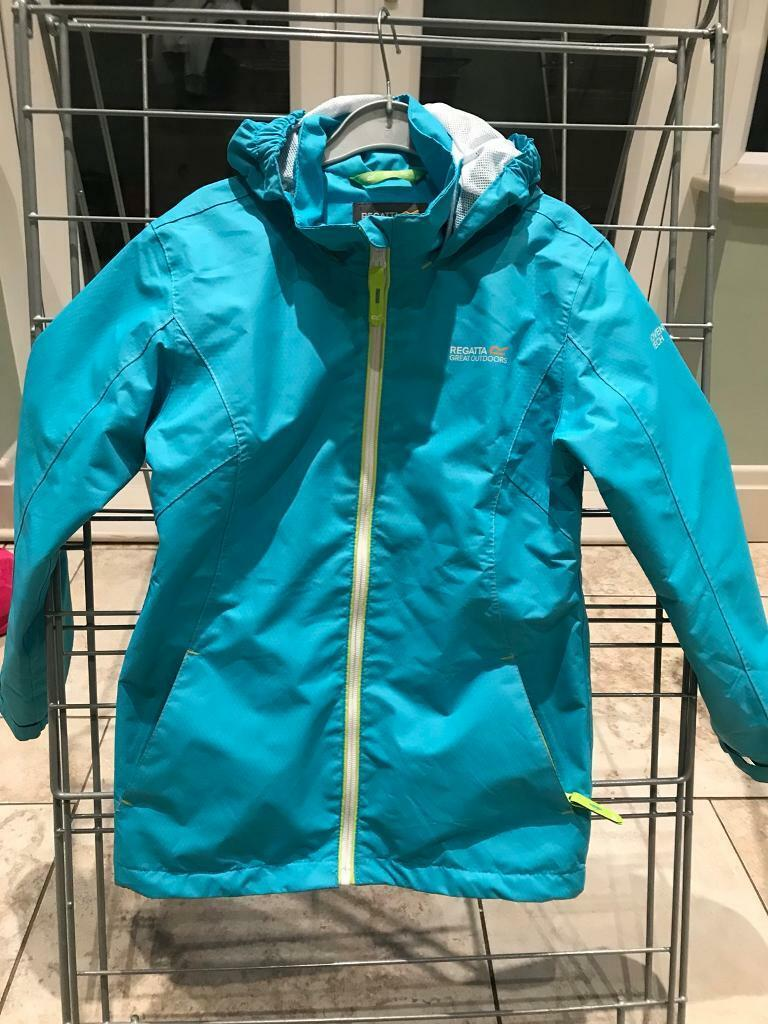 Blue lightweight rain jacket excellent condition