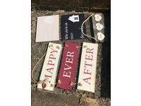 Hanging Welcome Home Signs