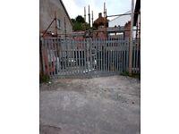 Compound galvanised gates