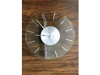 FLAT GLASS WALL CLOCK