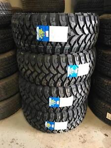FOUR NEW 33X12.50R18 OR 35X12.50R18 COMFORSER M/T TIRES -- CF3000 CLEARANCE