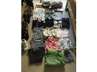 Bundle of clothes, bags, shoes, hair accessories