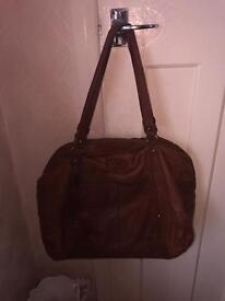 Large authentic Ugg brown shoulder bag
