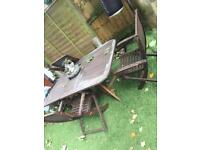 Large garden table an chairs