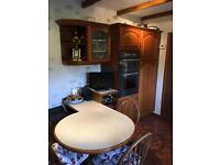 Mahogany Kitchen in great condition. With appliances.