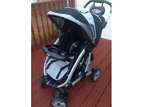 Graco travel system. Removable carry cot which then converts to pushchair. Very good condition