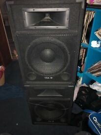 SPEAKERS - ACTIVE PASSIVE DJ SPEAKERS