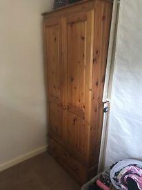 Wooden double wardrobe