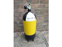 12ltr steel 232 bar dumpy Faber air cylinder. Full. In test to 2021.
