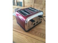 Four Slice Toaster (Logik) brand new condition. Bright Red