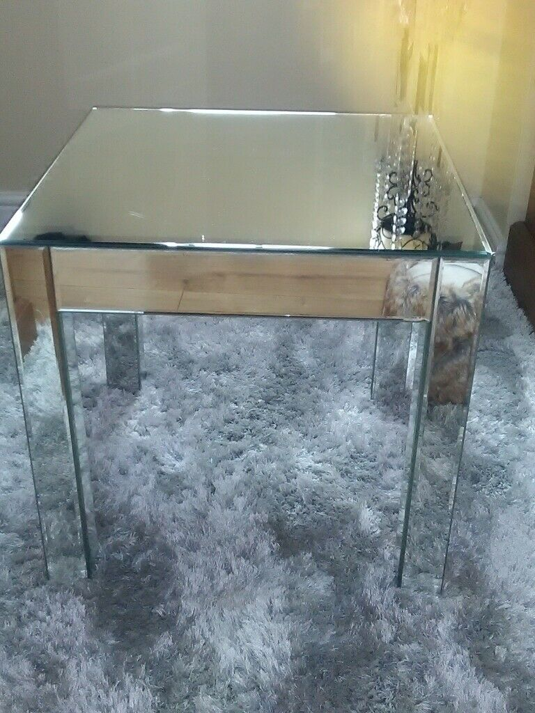 A Pair Of Matching Mirrored Side Tables From Debenhams In Garston Merseyside Gumtree