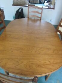 Solid Teak Ercol Extendable Dining Table