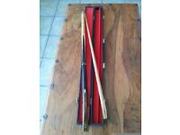 RILEYS SNOOKER CUE & HARD CASE