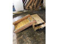 2 wooden sledges