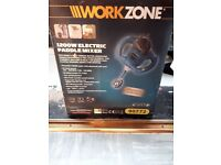 Workzone electric paddle mixer 1200