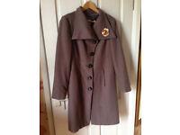 Ladies wool coat, size 10