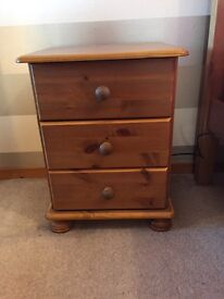 X2 pine bedside cabinets