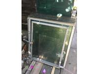 Greenhouse glass panes.