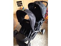 Double pushchair in excellent condition. Only used twice. Please contact me with any questions.