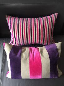 4 Velvet scatter cushions