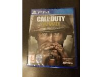 Call of duty ww2 brand new for ps4. Still sealed in the wrapper.