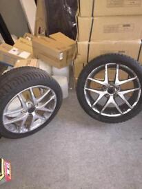 "2 x 17"" Alloys with Tyres , originally from SAAB 95 93 Aero Convertible"